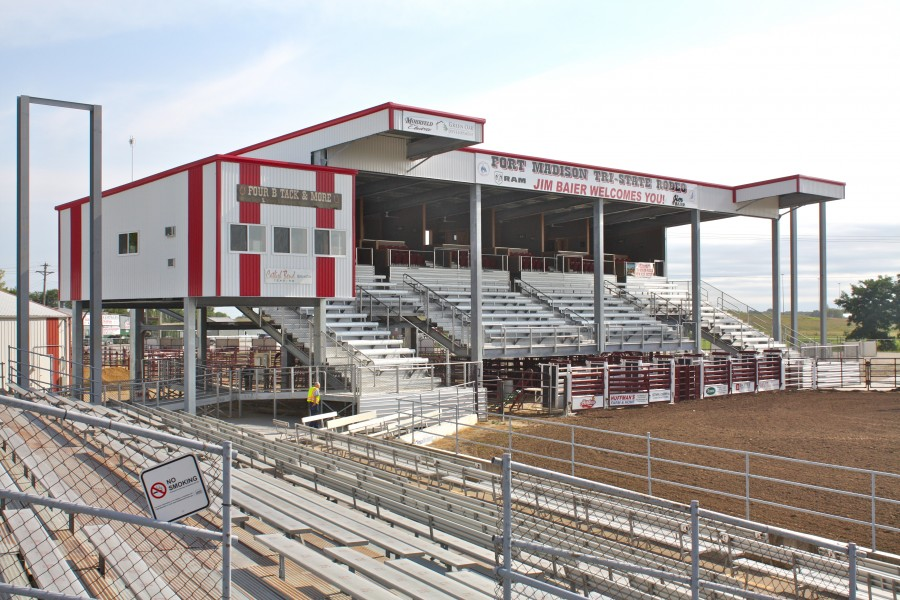 Tri State Rodeo Vip Grand Stand Baxter Construction Co
